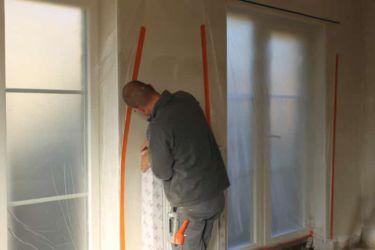 ramen en deuren worden volledig beschermd tegen eventuele nevel